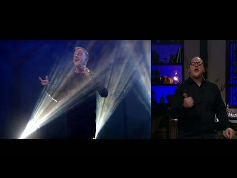 Magnus Carlssons 'Möt mig i Gamla stan' teckentolkas live - Vardagspuls (TV4)