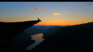 Trolltunga from the air - 4K drone video from Norway