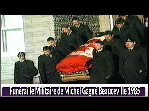 Funéraille militaire de Michel Gagné Beauceville 1985(Hier@ Aujourd`hui)