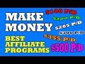 The Best Affiliate Programs To Make Money Online (Worldwide)