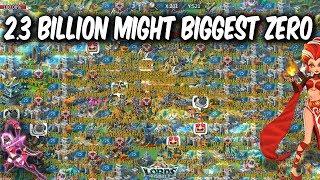 2.3 Billion Might Biggest Zeroed In Lords Mobile 1.6 Billion Might Drop