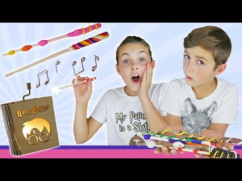Magical Harry Potter Music Box and DIY Wizard Wands | Baking Clay Crafts For Kids