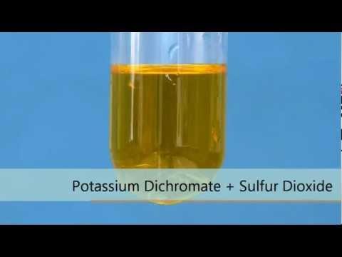 Potassium Dichromate + Sulfur Dioxide