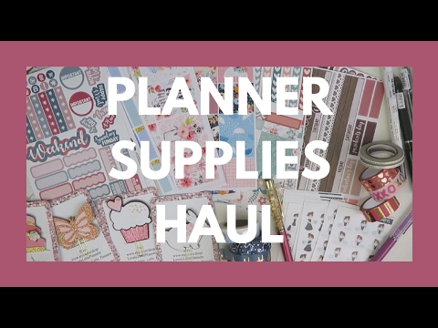 PLANNER SUPPLIES HAUL // Etsy Stickers, Pens, Washi, & More!
