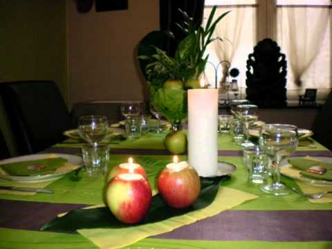 Id e d co table pomme youtube - Idee decoration table ...