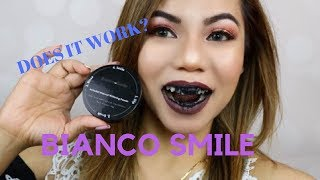 Gambar cover How To Whiten Teeth FAST!  BIANCO SMILE Activated Charcoal Teeth Whitener Review and Demo