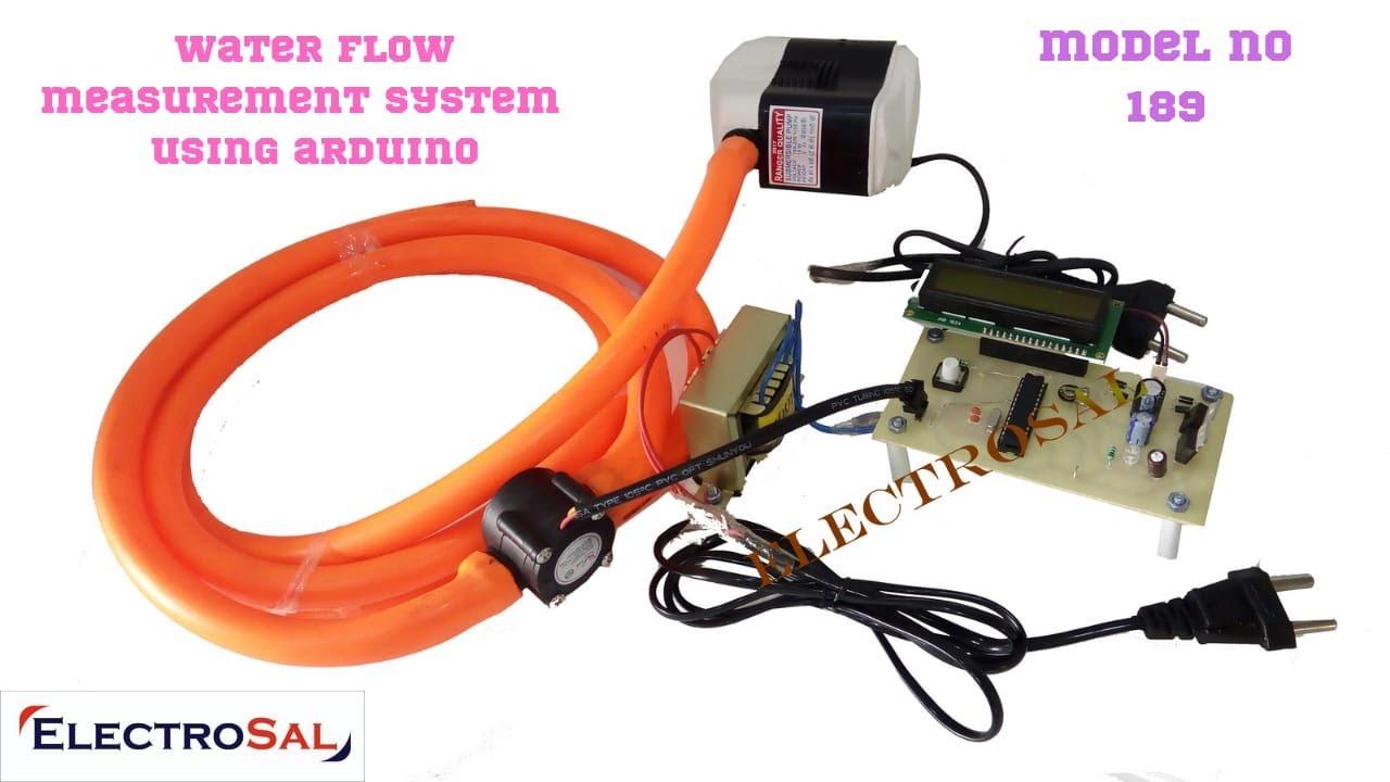 Water flow measurement using Arduino