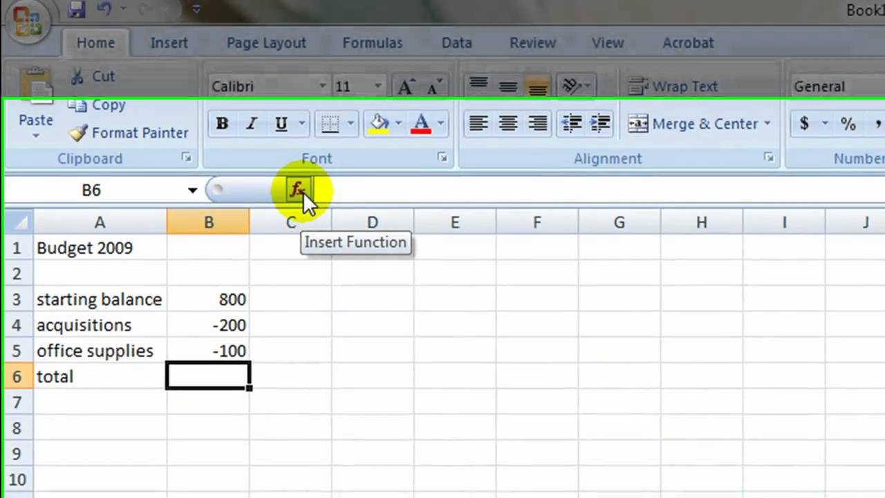 Simple Budget In Excel Youtube