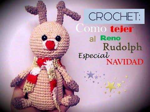 Amigurumis Navidad Paso A Paso : Crochet navidad como tejer un amigurumi del reno rudolf zurdo