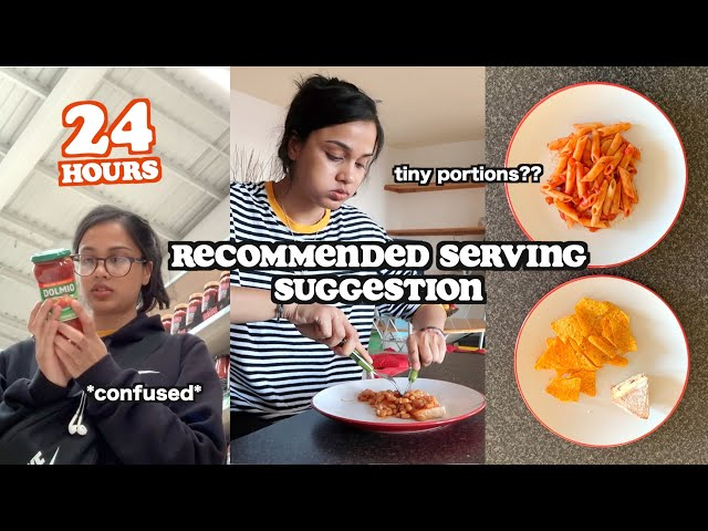 i ate the recommended serving suggestion for 24 hours *tiny portions* | clickfortaz