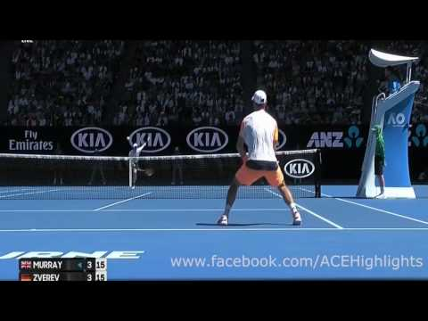 Andy Murray vs Mischa Zverev 20170122 R4 Highlights HD720p50 by ACE