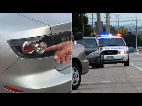 Why Cops Touch Your Tail Light When They Pull You Over