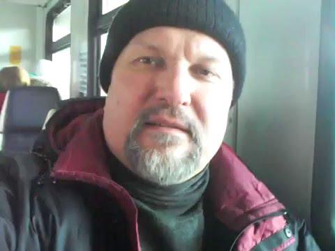 Москва, Ярославский вокзал. В электричке на Болшево 2016.01.07 Архиепископ С. Журавлев