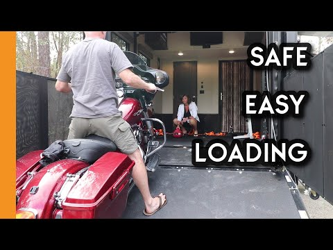 The SAFE & EASY Way To Load Motorcycles Into A Toyhauler - Full Time RV Living