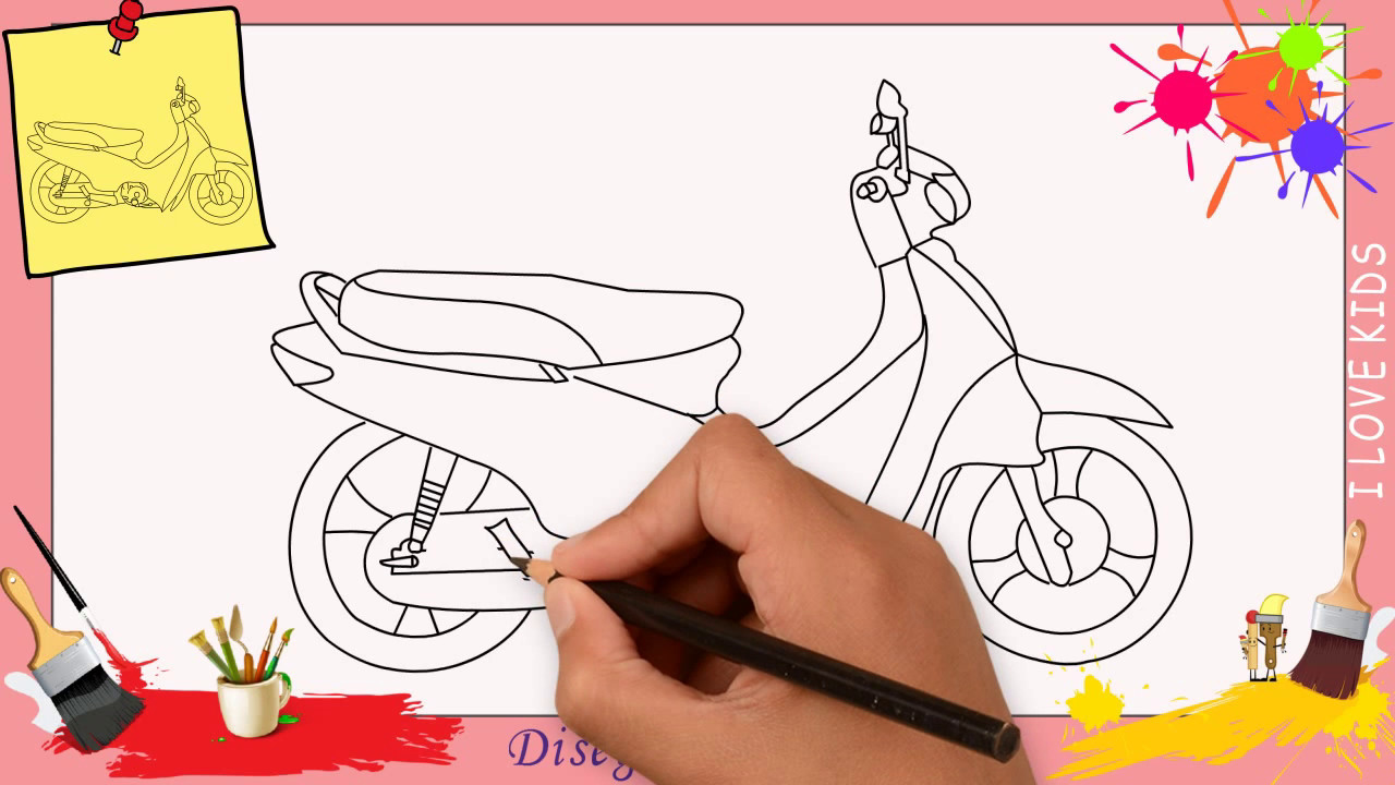 Disegni Di Moto Come Disegnare Una Moto Facile Passo Per Passo