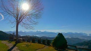 4K Hotel Lüderenalp Emmental, Bern SWITZERLAND アルプス山脈 aerial view