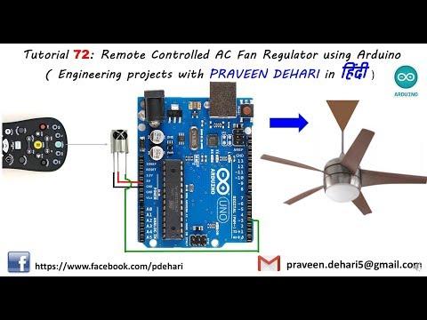 Remote Controlled AC Fan Regulator using Arduino (Tutorial