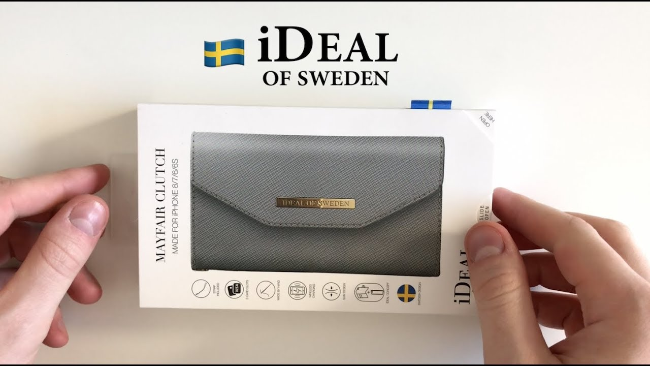 Unbox iDeal of Sweden MAYFAIR CLUTCH iPhone wallet case - YouTube c561255a4c260