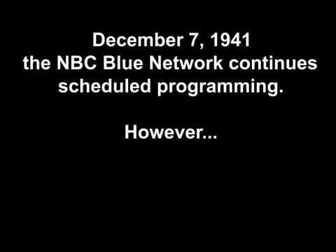 Dec. 7, 1941 - Pearl Harbor bulletins interrupt the Jack Benny show