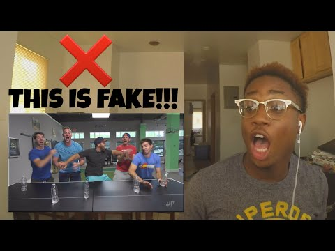 Thumbnail: Water Bottle Flip Edition - Dude Perfect | REACTION