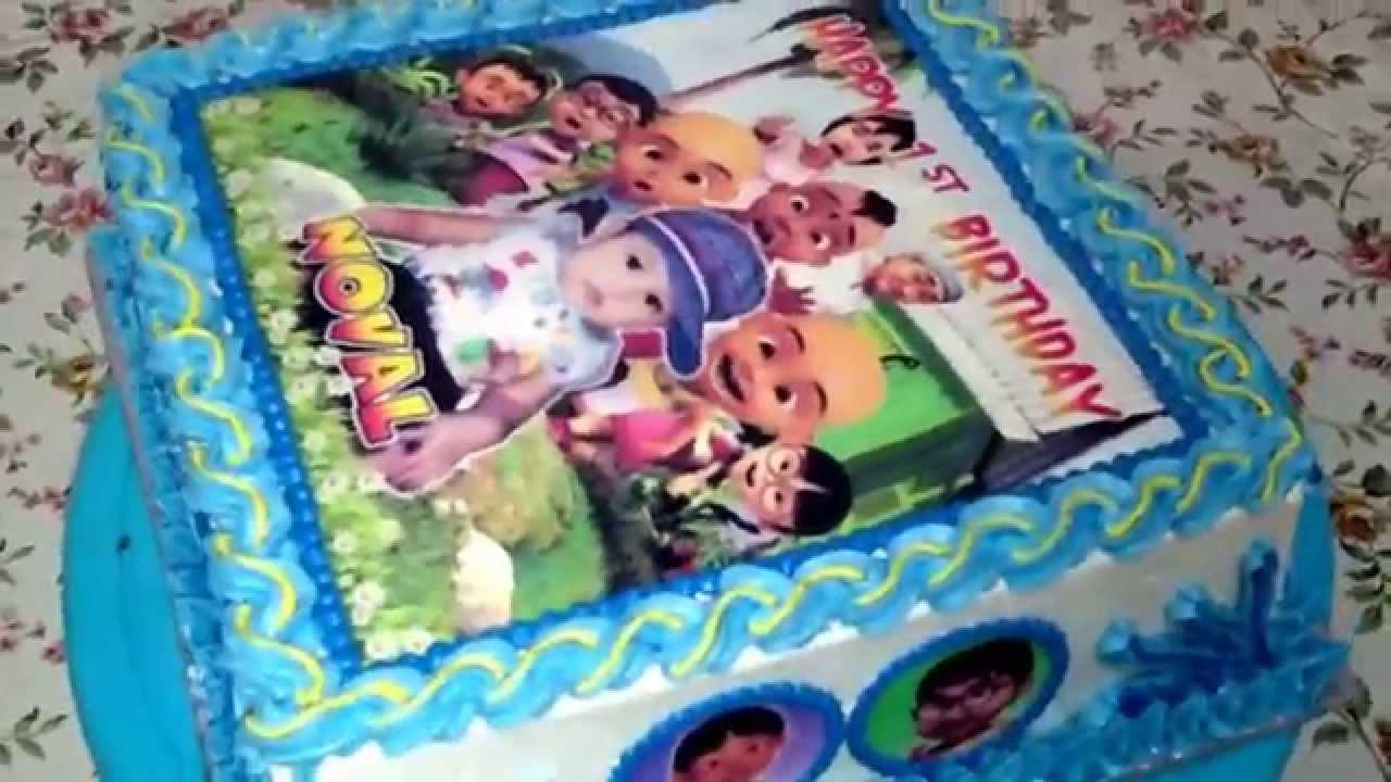 Upin Ipin Edible Cake Images YouTube