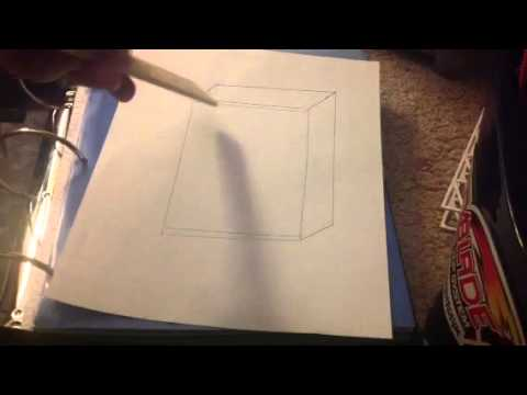 How To Draw A 3d Book Shelf YouTube