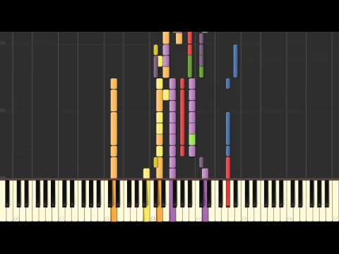 Beethoven's Symphony 9 Mov. 4 Piano Tutorial (Synthesia)
