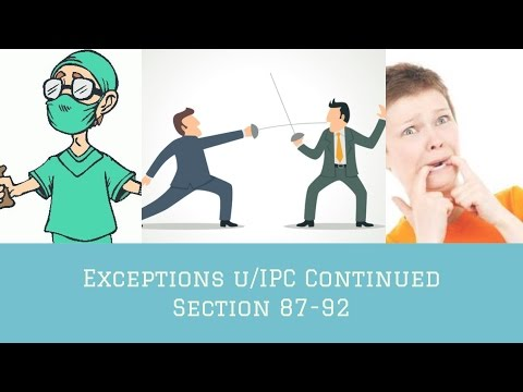 Exceptions U/IPC Continued- Section 87-92