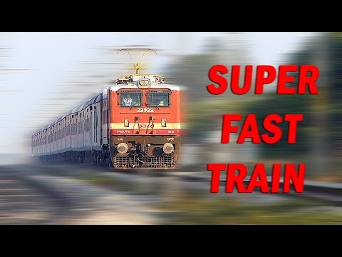 SUPER FAST TRAIN Curves at Top Speed : Indian Railways