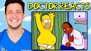 Doctor Reacts To Simpsons Medical Scenes