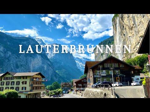 Lauterbrunnen Valley, a little Piece of Heaven in Switzerland🇨🇭🏔. Walk tour   Summer 2021