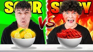 SPICY FOOD VS SOUR FOOD CHALLENGE (EXTREME)