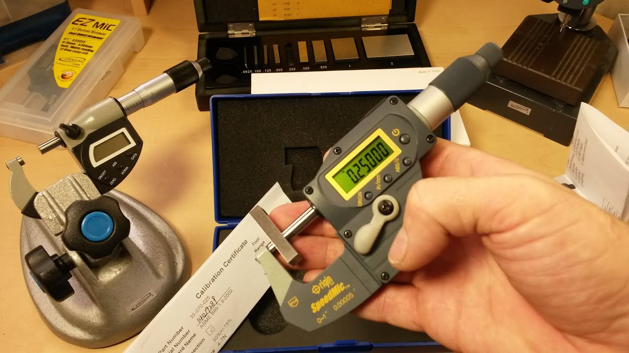 """0-1/"""" iGAGING Speedmic Digital Micrometer Absolute with .00005/"""" accuracy."""
