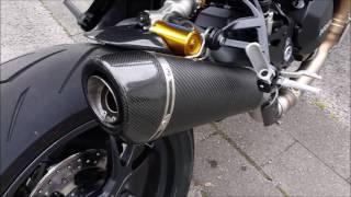 v2Movie : Ducati monster 821 stock vs sc-project baffle modified