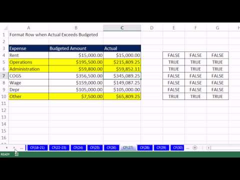 Highline Excel 2013 Class Video 40: Conditional Formatting Basic To Advanced 50 Examples