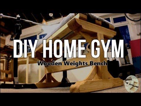 Wooden Weights Bench.