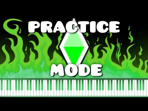 Synthesia [Piano Tutorial] Geometry Dash - Practice Mode