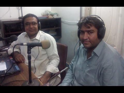 Raza Bukhari, Emerging Poet Of Sindh @ Hot FM 105 Larkana.
