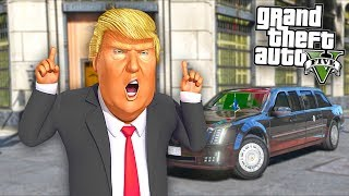 Here's what happens when Mr President robs a bank in GTA 5!!
