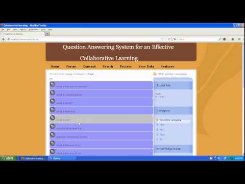 Question Answering System for an Effective Collaborative Learning