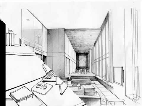 Interior Design Office Sketches office/home interior design sketches – initial interior design