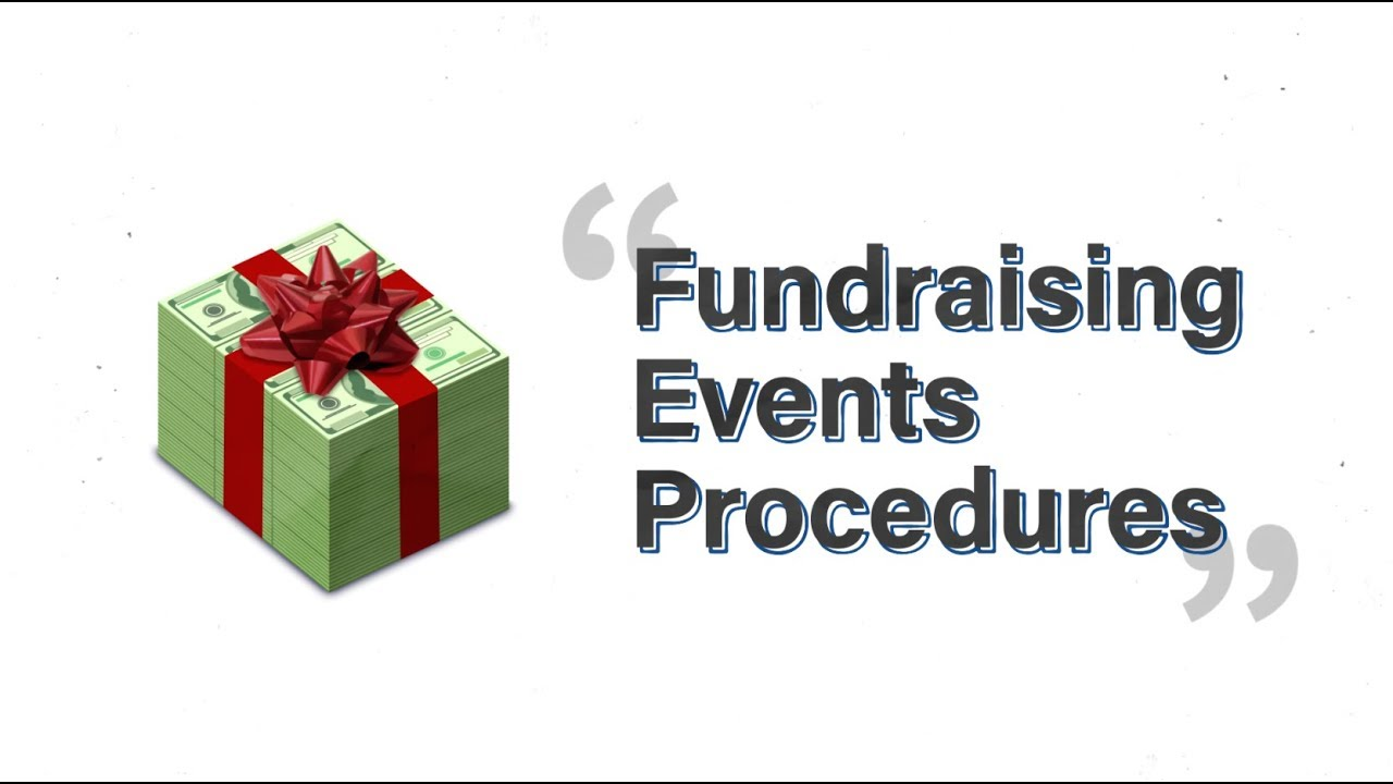 accounting handbook fundraising events youtube