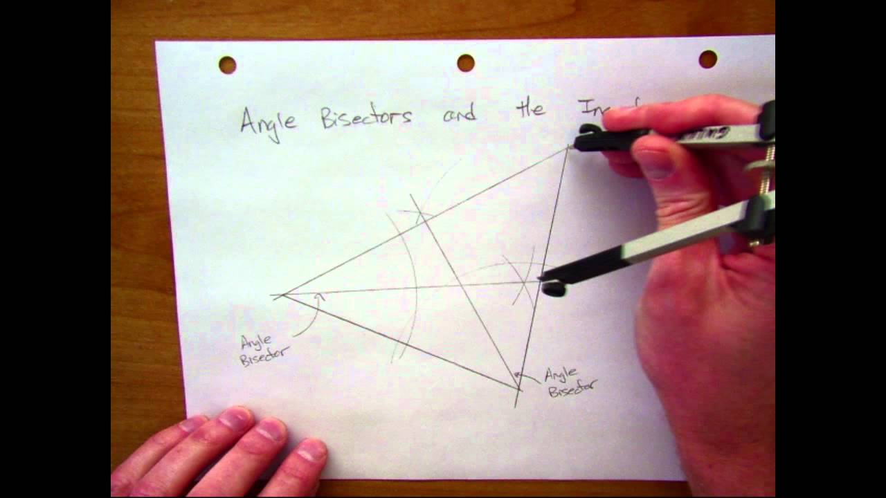 how to find the incenter of a triangle
