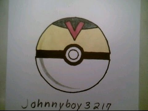 How To Draw Pokemon Level Ball Pokeball Go 3d Doodle