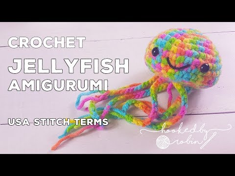 Crochet Amigurumi Jellyfish (Quick & Easy!) Ideal For Beginners