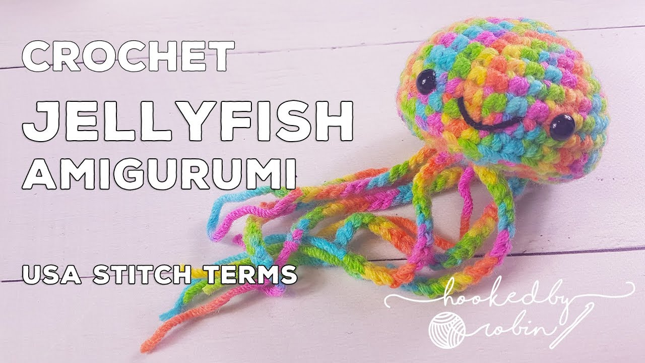 Happy jellyfish amigurumi pattern - printable PDF | Crochet ... | 720x1280