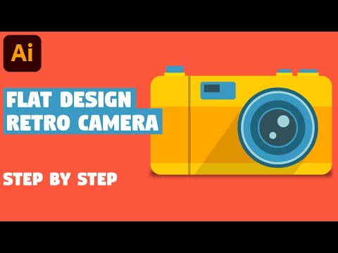 Retro Photo Camera in 7 EASY STEPS | Illustrator CC tutorial thumbnail