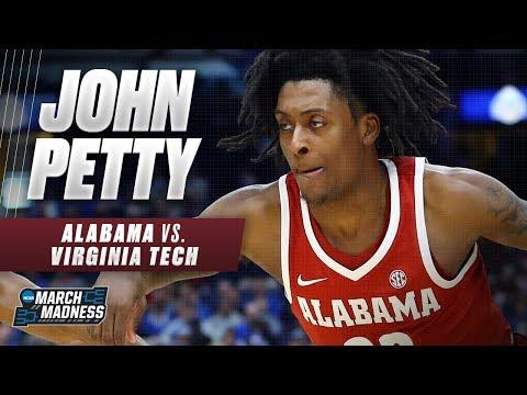 John Petty scores 20 points as Alabama takes down Virginia Tech