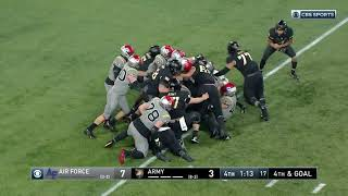 Highlights from army's 10-7 win over air force to clinch the cic.