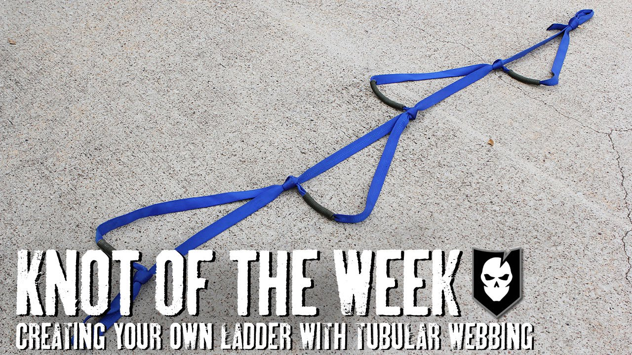 Creating Your Own Ladder with Tubular Webbing - ITS Knot of the ... for Rope Ladder Knot  56bof